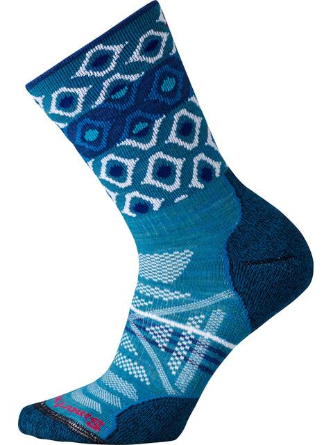 Smartwool PhD Outdoor Light Pattern Crew Sokken Dames blauw/turquoise